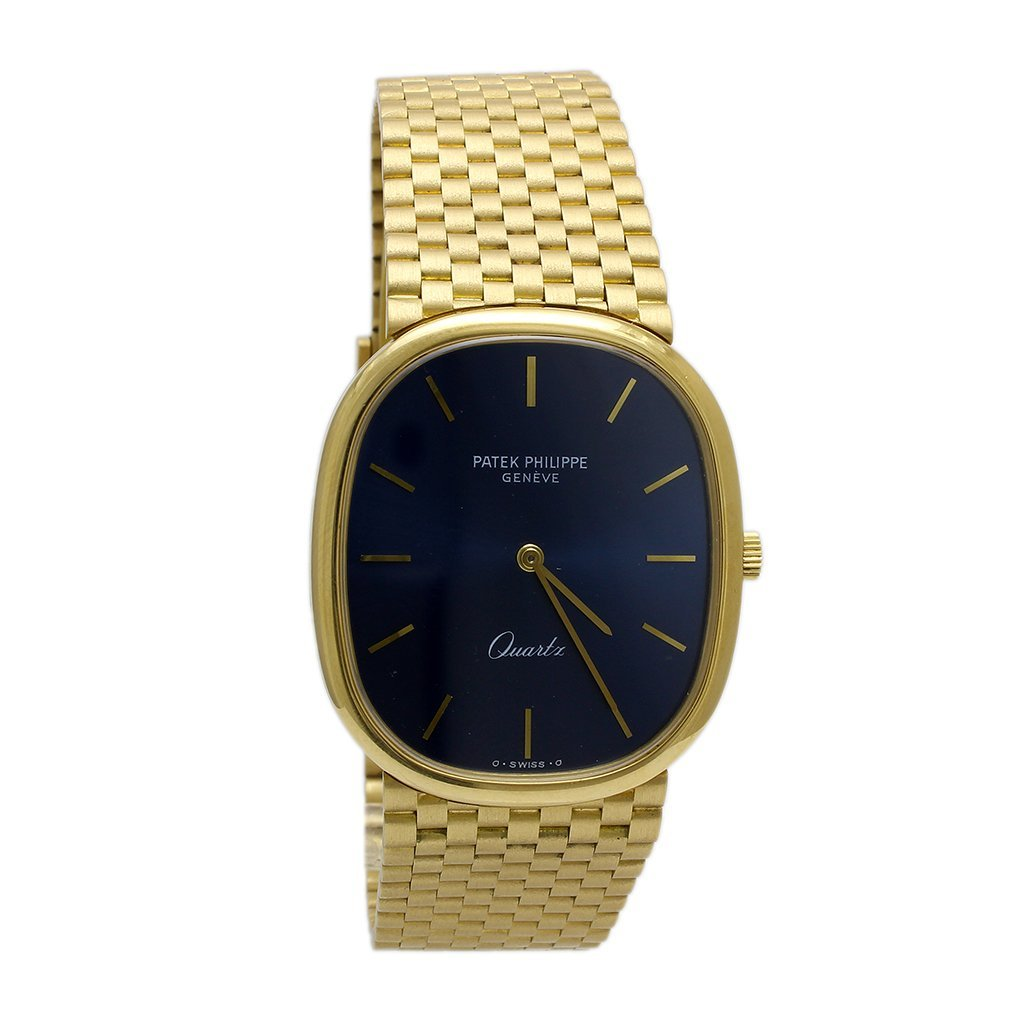 Patek Philippe 18k Solid Gold Quartz Men's Watch, Swiss