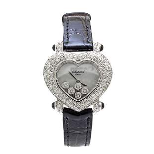 Chopard Heart Happy Diamond 18k Gold Ladies Watch