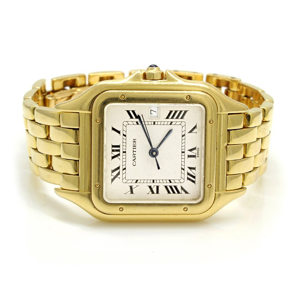 Cartier Large Santos 18k Solid Yellow Gold Watch