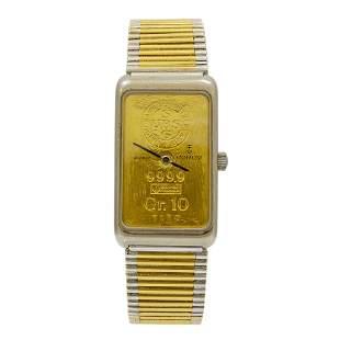 Corum 10 Gram Ingot 999.9 18K Yellow and White Gold
