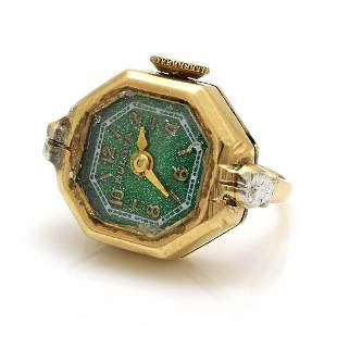 Bulova 14K Gold Finger Ring Watch
