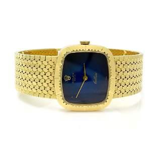 Rolex Cellini 18K Gold Blue Dial Ladies Watch