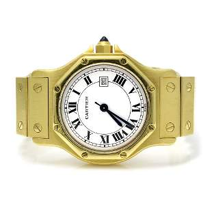 Cartier Santos 18K Gold Octagon Watch
