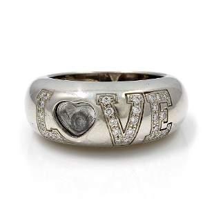 Chopard Happy Diamond 18K Gold Love Band Ring