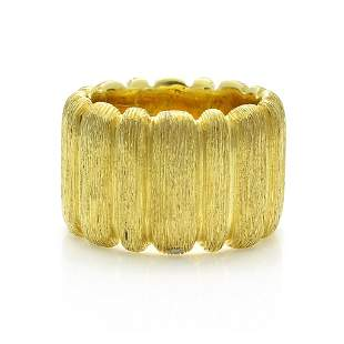 Henry Dunay 18K Yellow Gold Textured Band Ring