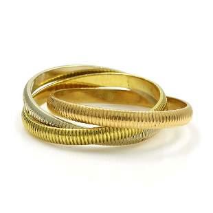 Cartier Tri-Color 18K Gold Ring