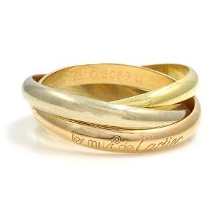 Cartier Trinity Tri-Color 18K Gold Ring