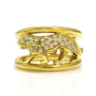 Diamond 18K Yellow Gold Animal Figural Ring