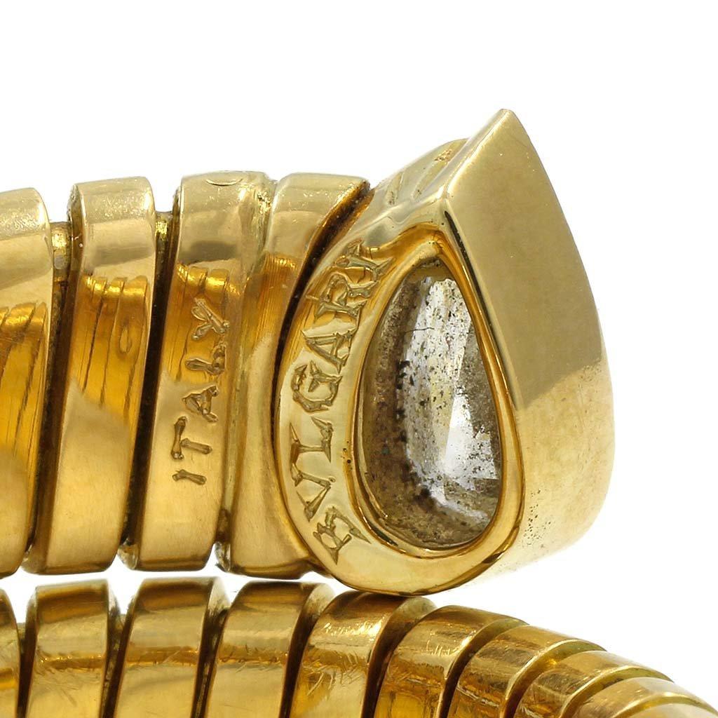 Bulgari Diamond 18K Gold Flexible Serpenti Ring - 3