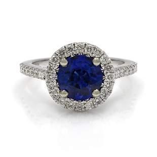Ceylon Sapphire Diamond 18K Gold Ring