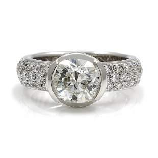 Diamond 18K White Gold Eternity Engagement Ring
