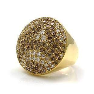 Cartier Pave Diamond 18K Gold Ring