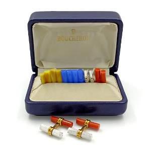 Boucheron 18K Gold Interchangeable Cufflinks