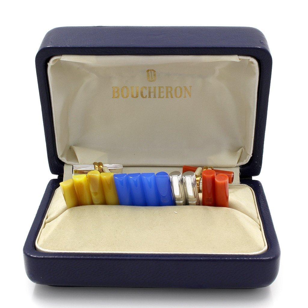 Boucheron 18K Gold Interchangeable Cufflinks - 5