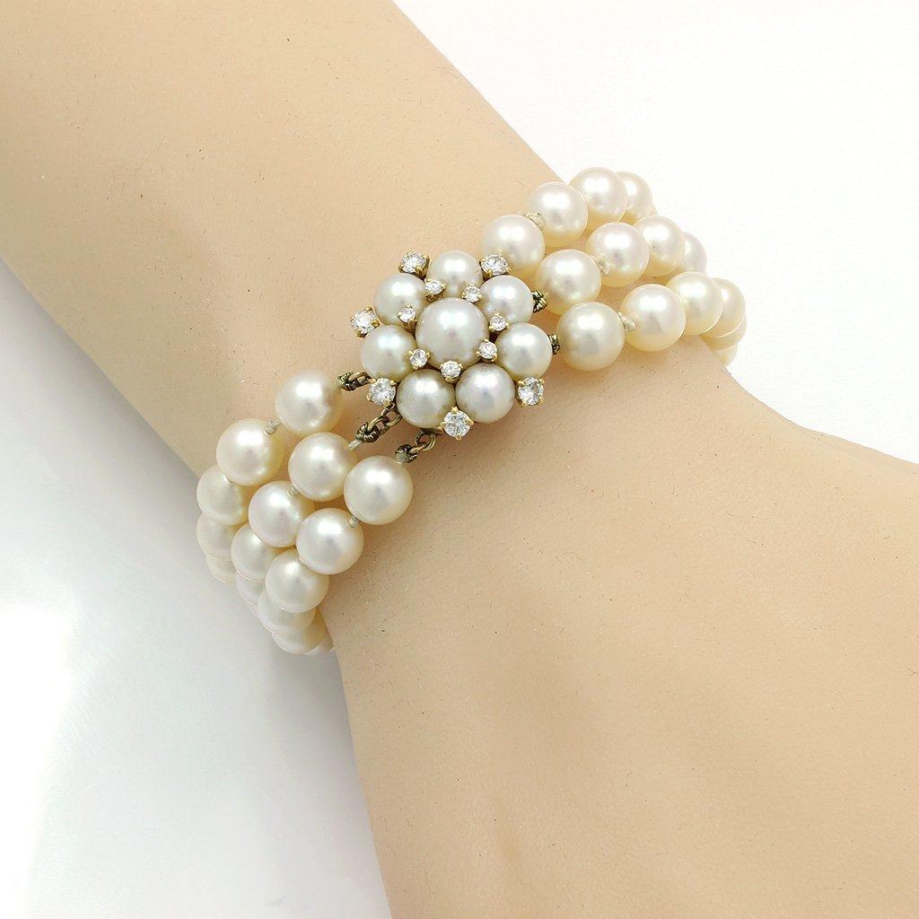 Van Cleef & Arpels Pearl Diamond 14K Gold Bracelet - 2