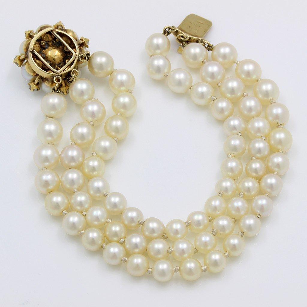 Van Cleef & Arpels Pearl Diamond 14K Gold Bracelet - 3