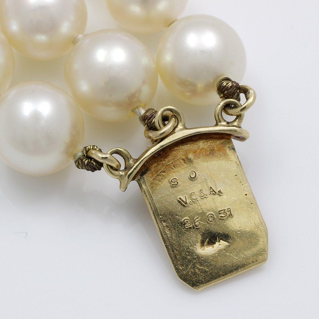 Van Cleef & Arpels Pearl Diamond 14K Gold Bracelet - 4