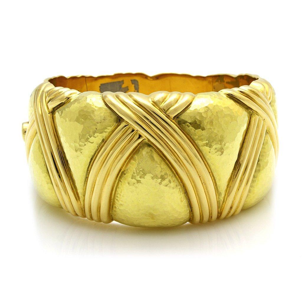Italian 18K Gold Bangle Bracelet