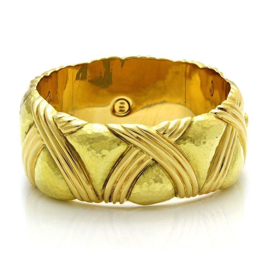 Italian 18K Gold Bangle Bracelet - 2
