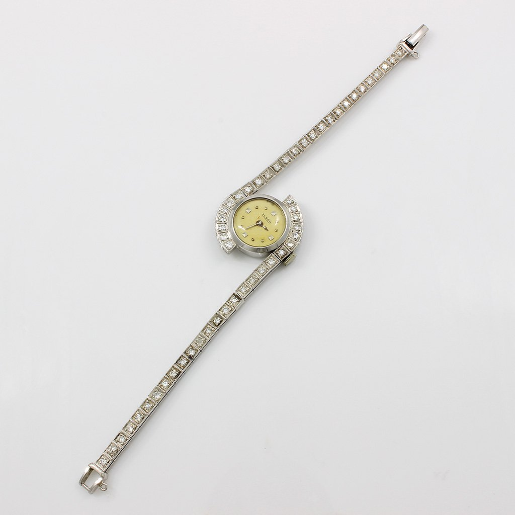 Vintage Alson Diamond 14K White Gold Watch - 2