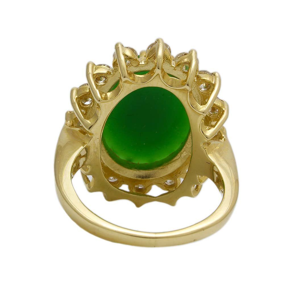 Jade Diamond 14K Gold Ring - 5