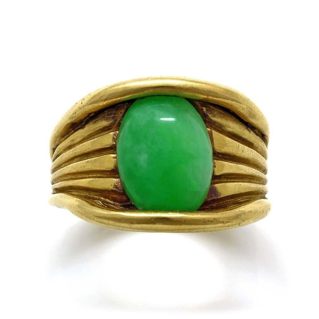 Jade 18K Yellow Gold Ring