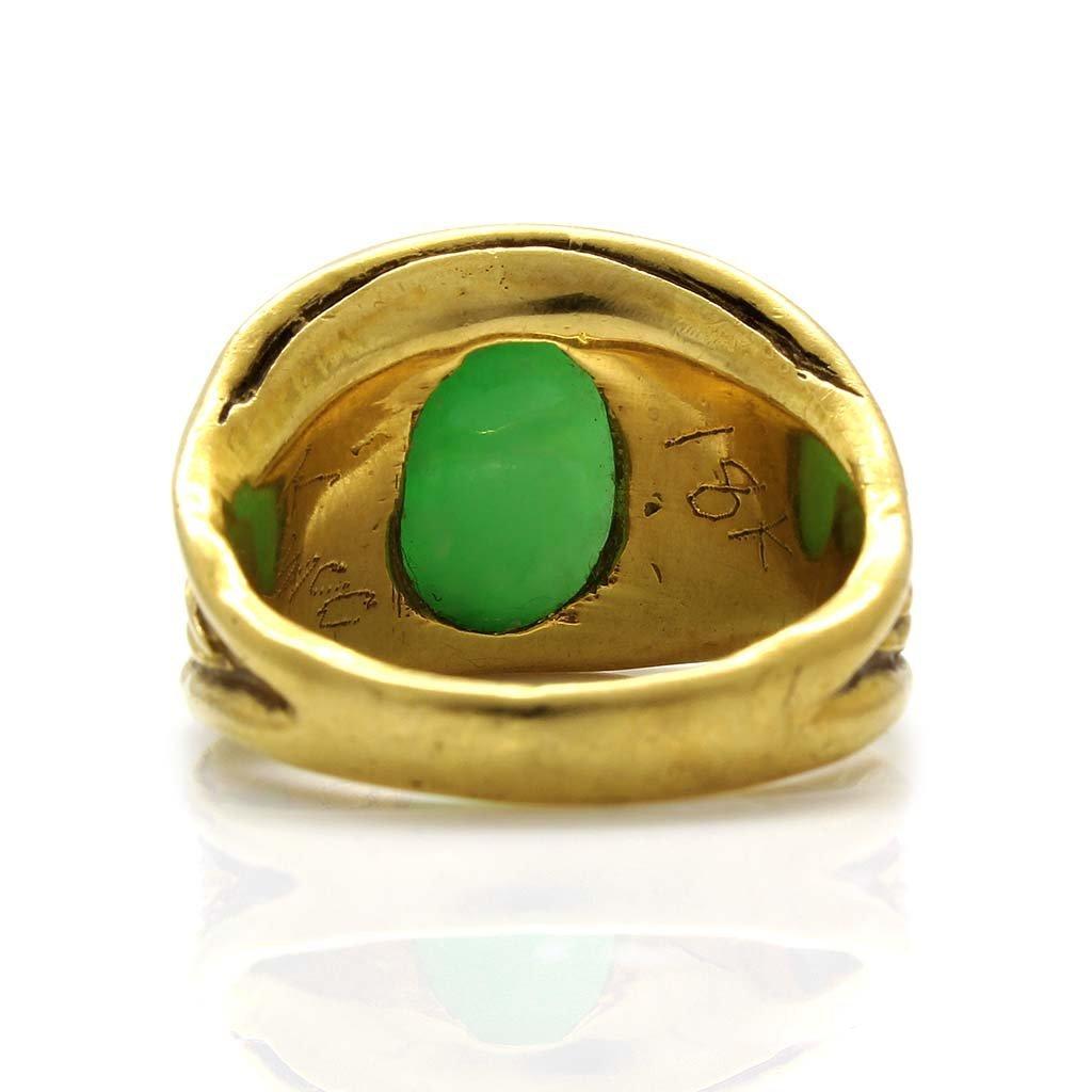 Jade 18K Yellow Gold Ring - 4