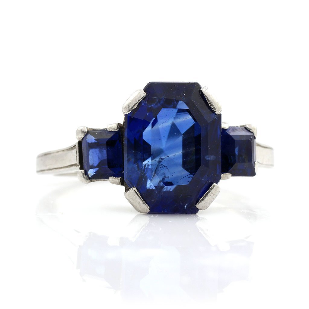 Natural Burma No Heat  Sapphire Ring