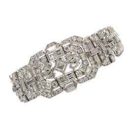 Mauboussin Mixed Cut Diamond Platinum Bracelet