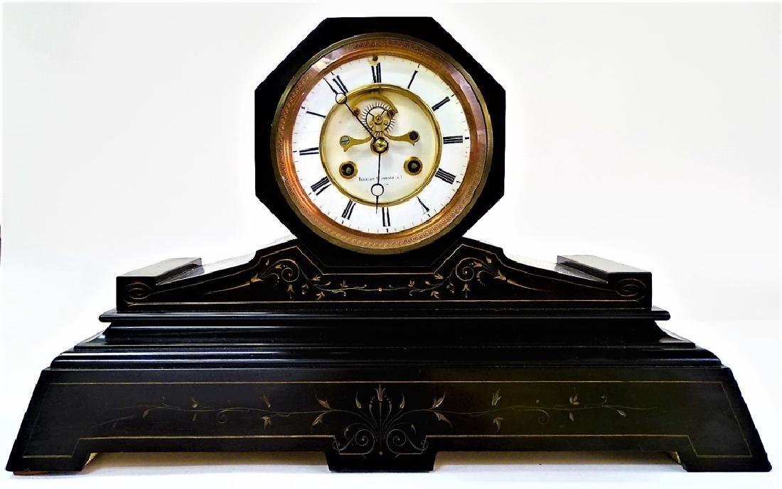 BIGELOW KENNARD & CO BOSTON SLATE MANTEL CLOCK