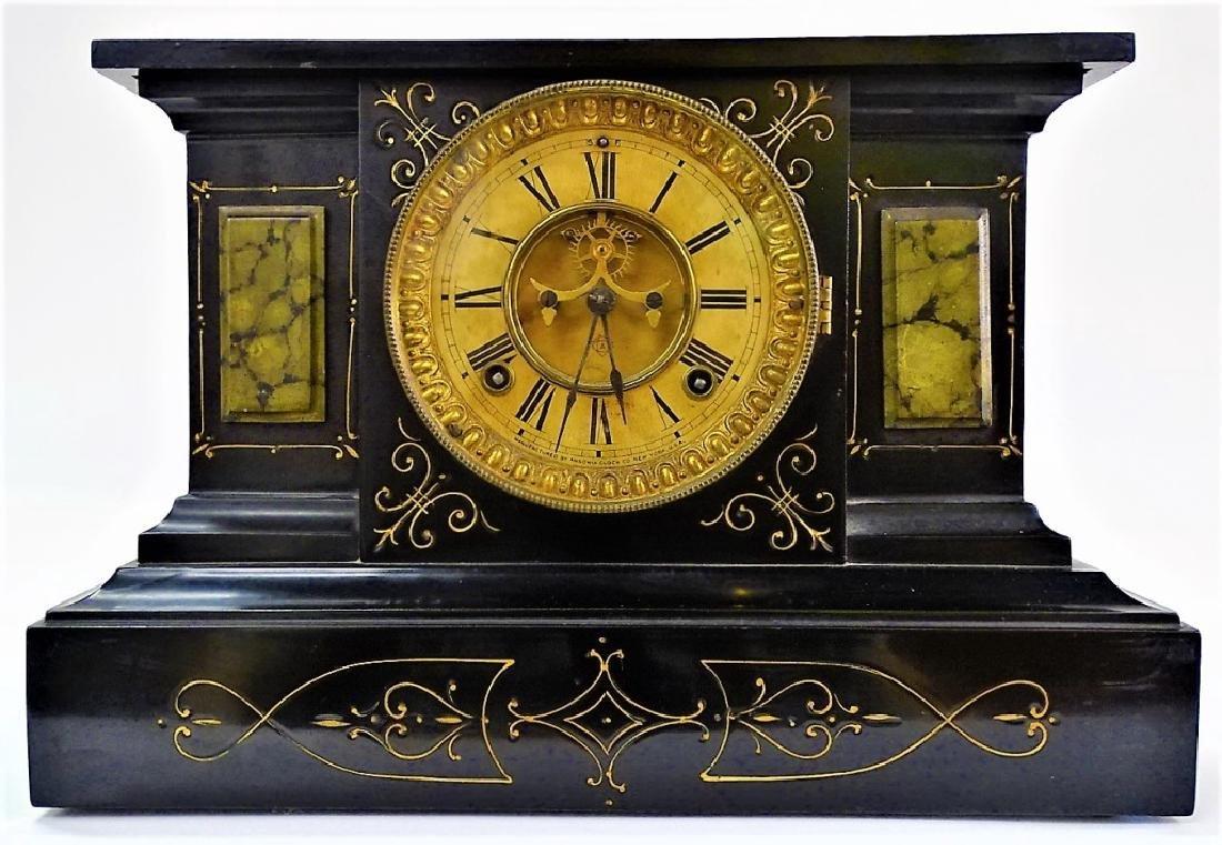 19TH C. ANSONIA NEO-CLASSICAL MANTEL CLOCK
