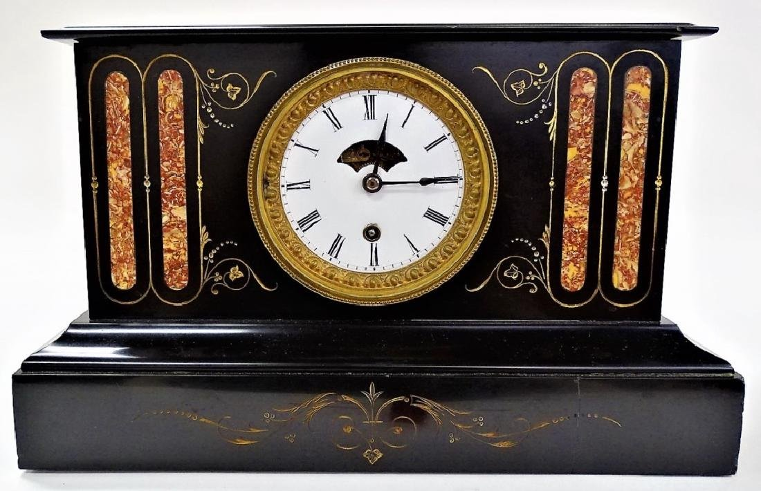 EARLY 20TH C. BOSTON CLOCK CO SLATE MANTEL CLOCK