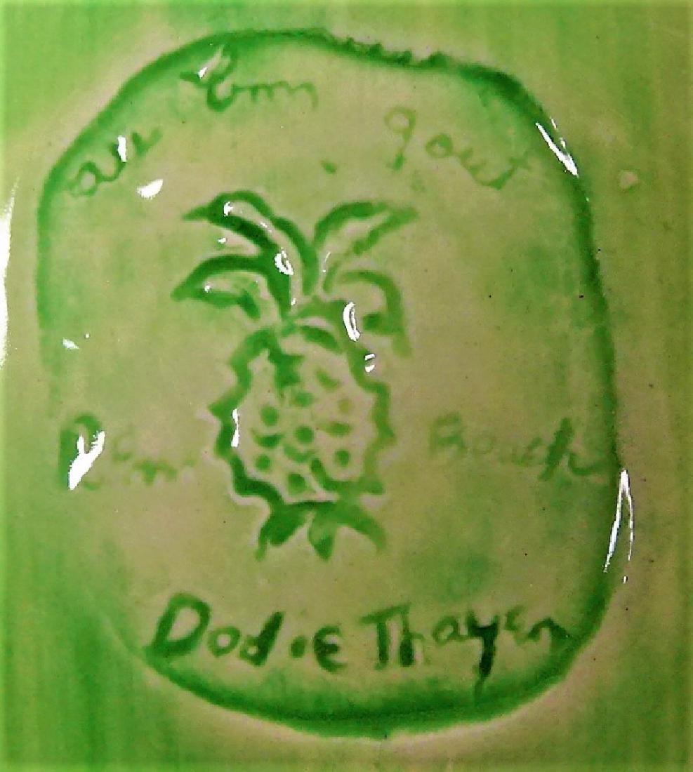 RARE DODIE THAYER LETTUCE-WARE PEA POD DISH - 3