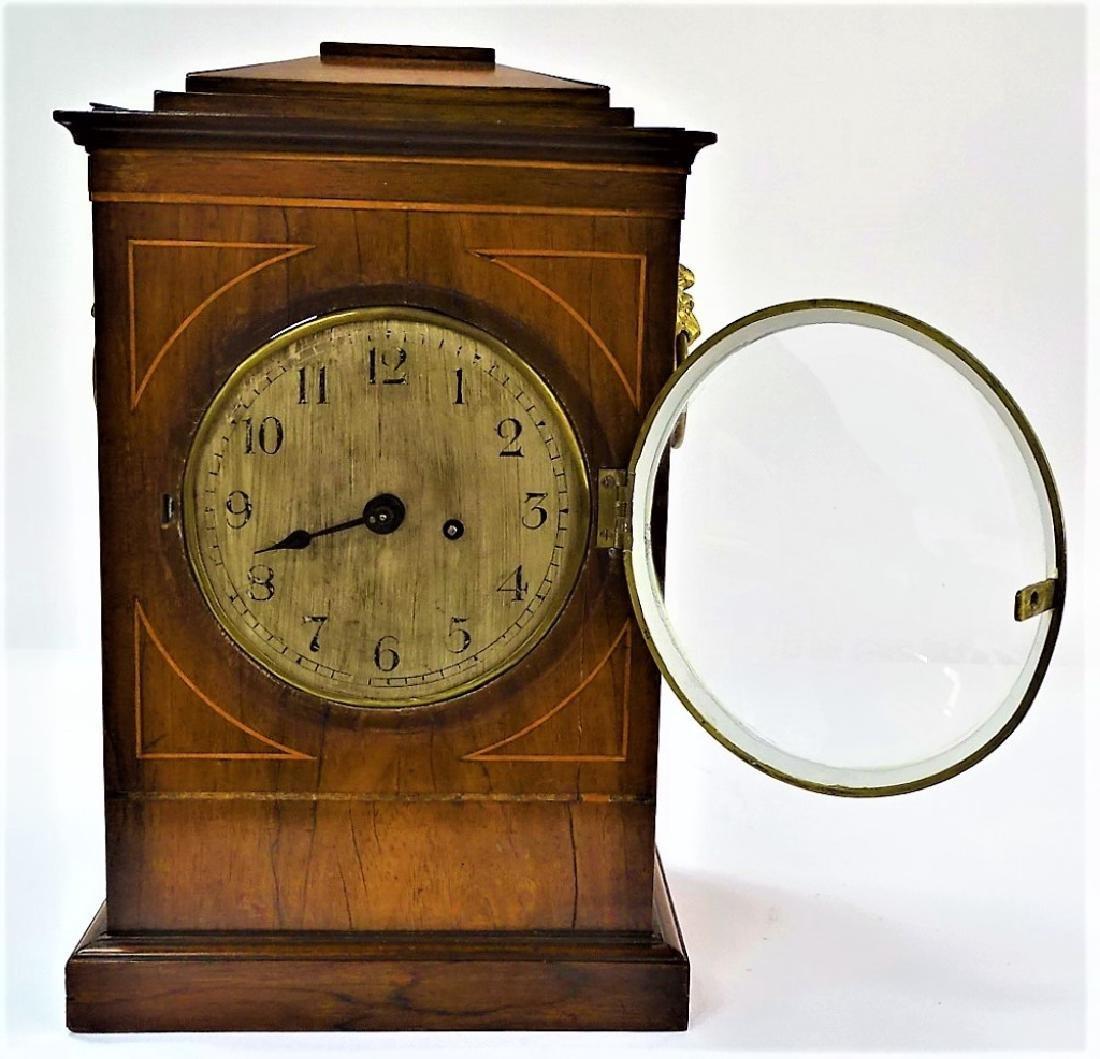 LATE 19TH C. ENGLISH MAHOGANY BRACKET CLOCK
