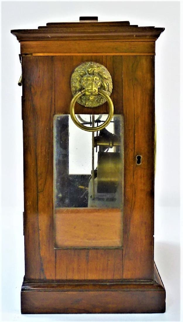 LATE 19TH C. ENGLISH MAHOGANY BRACKET CLOCK - 3