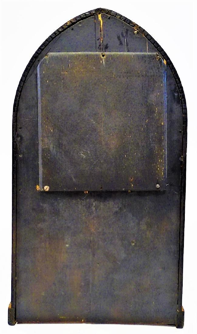 ANTIQUE E. INGRAHAM WALNUT BEEHIVE SHELF CLOCK - 5