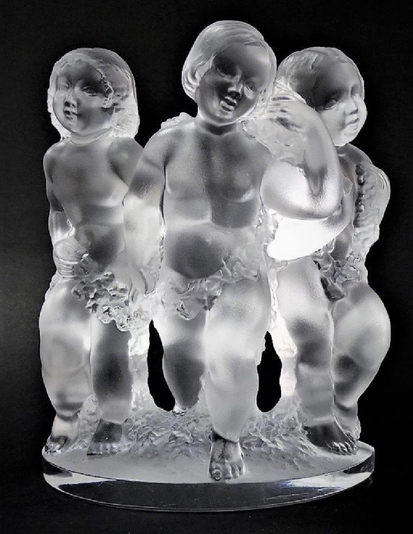 LALIQUE FRANCE 'LUXEMBOURG' CRYSTAL GROUPING