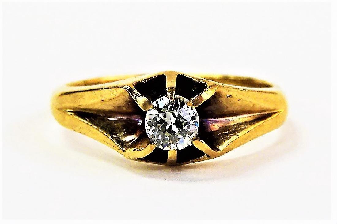 LADIES VICTORIAN 14KT YELLOW GOLD & DIAMOND RING