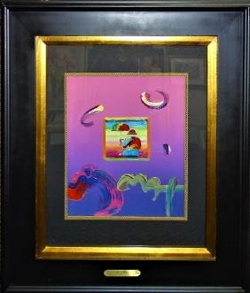 PETER MAX MIXED MEDIA ' UMBRELLA MAN'