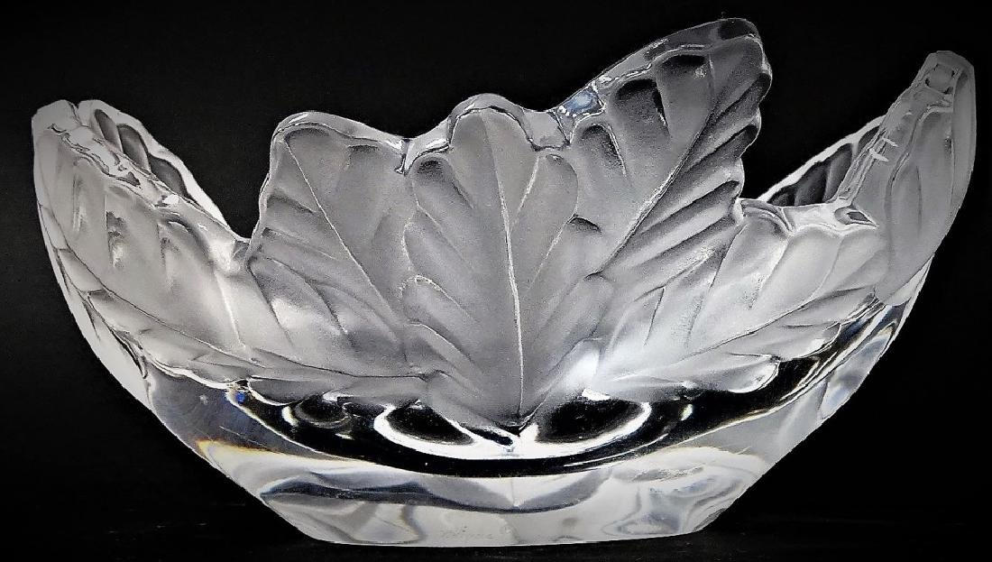 LALIQUE FROSTED & MOLDED 'COMPIEGNE' CRYSTAL BOWL
