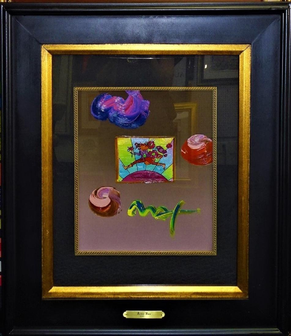 PETER MAX MIXED MEDIA TITLED 'THE RUNNER'