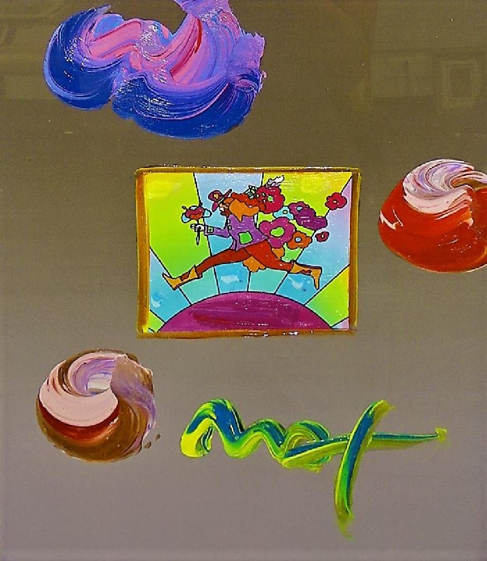 PETER MAX MIXED MEDIA TITLED 'THE RUNNER' - 2