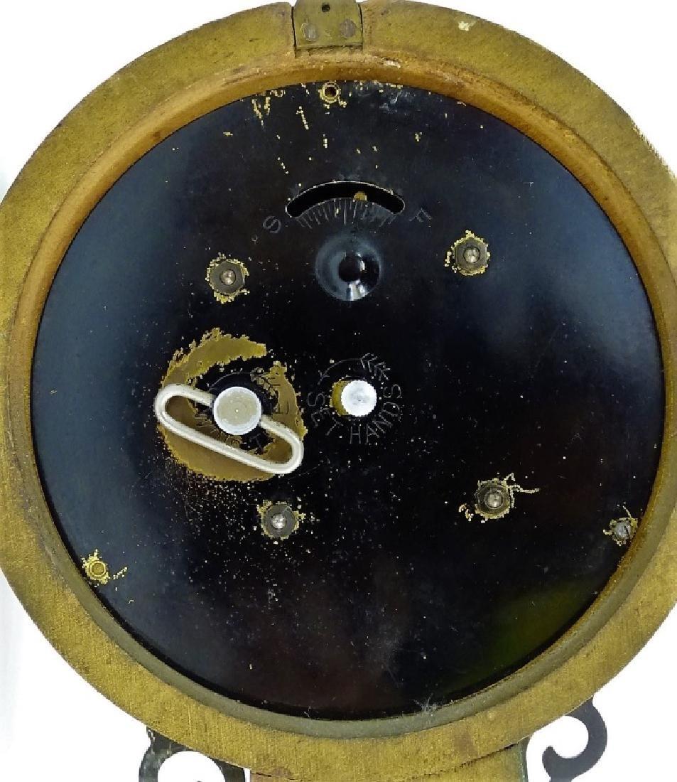 VINTAGE GILBERT DECORATED BANJO WALL CLOCK - 5