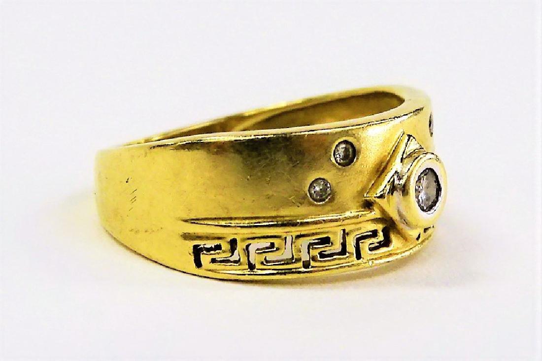 LADIES 14KT GOLD DIAMOND RING - 2