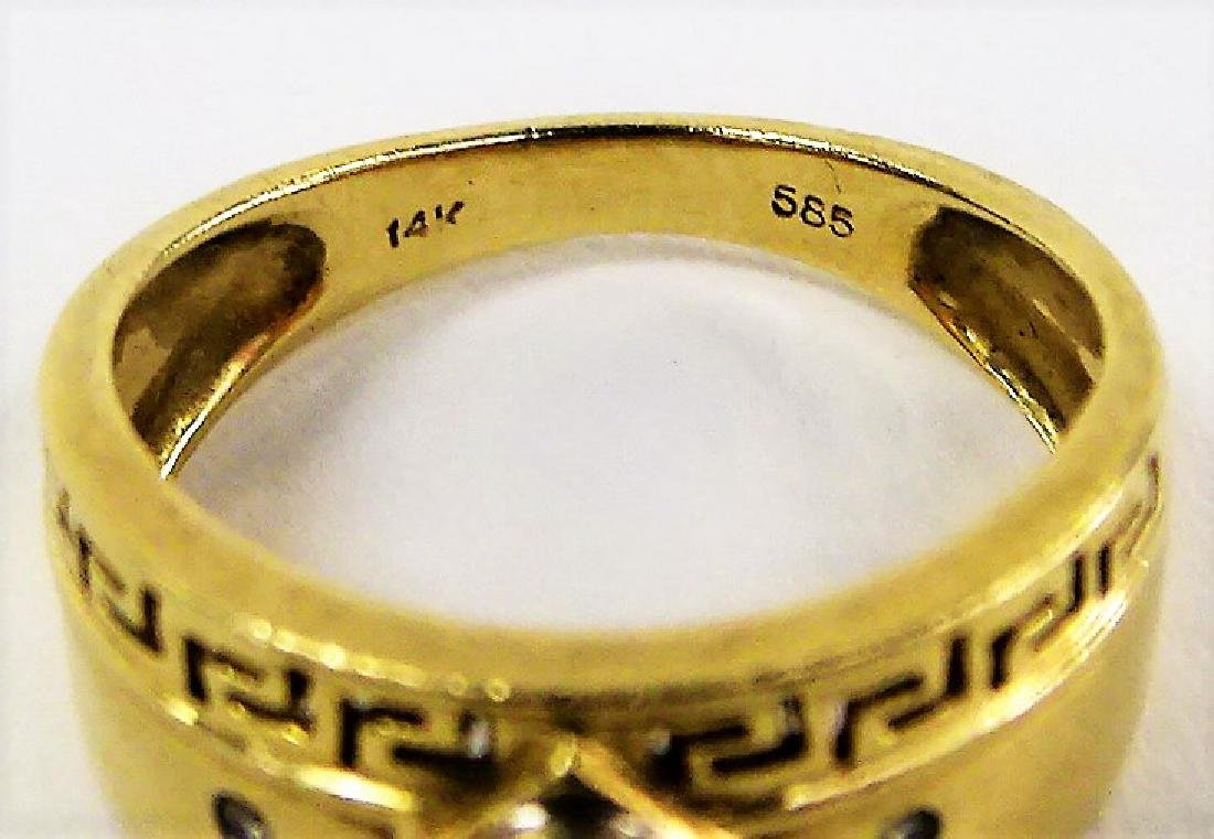 LADIES 14KT GOLD DIAMOND RING - 4