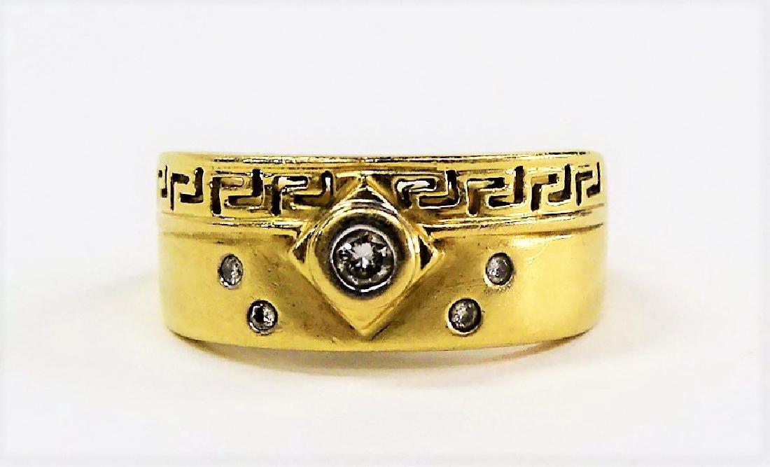 LADIES 14KT GOLD DIAMOND RING - 5