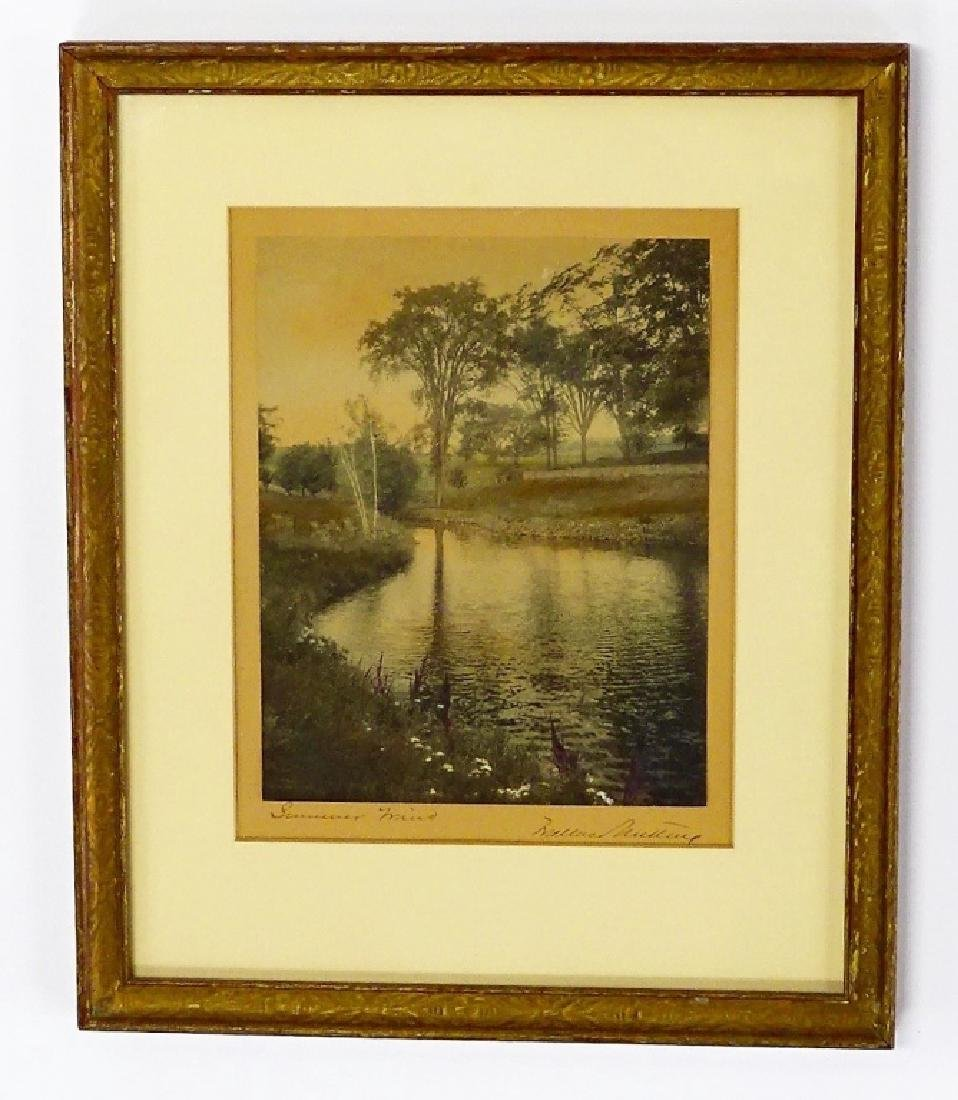 2 WALLACE NUTTING HAND COLORED PRINTS SIGNED - 2