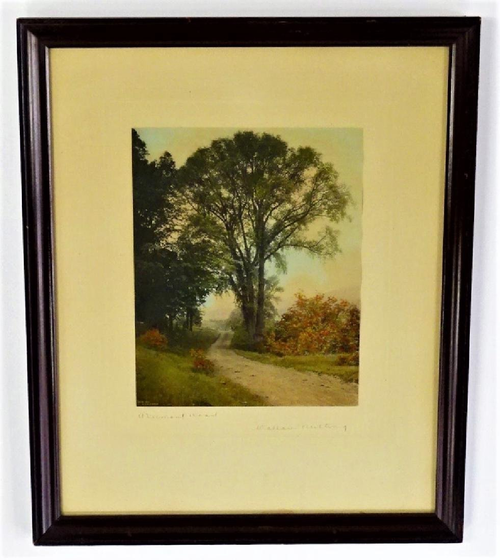 2 WALLACE NUTTING HAND COLORED PRINTS SIGNED - 3