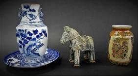 LOT OF 4 CHINESE & JAPANESE EXPORT CERAMICS