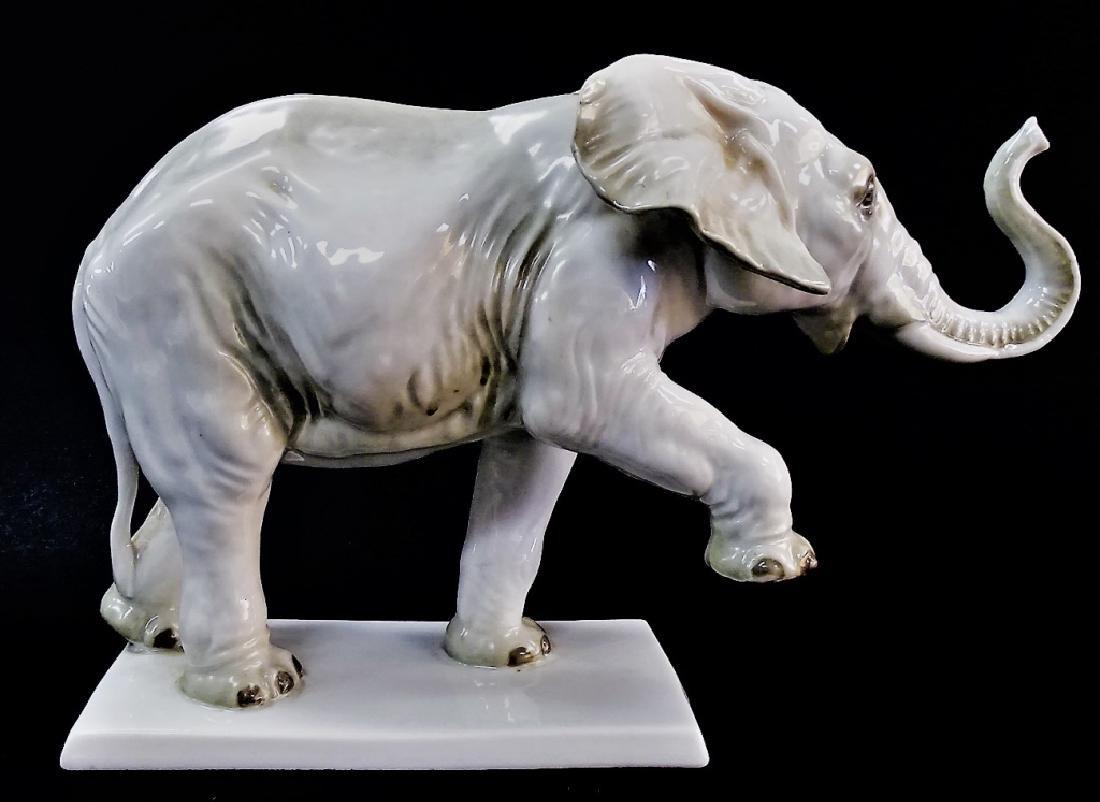 LARGE ROSENTHAL PORCELAIN CIRCUS ELEPHANT